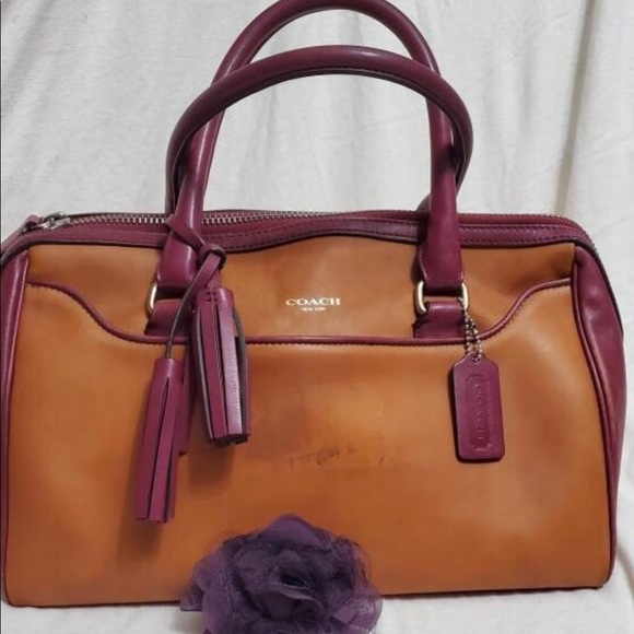 Coach Leather Haley Two Toned Satchel